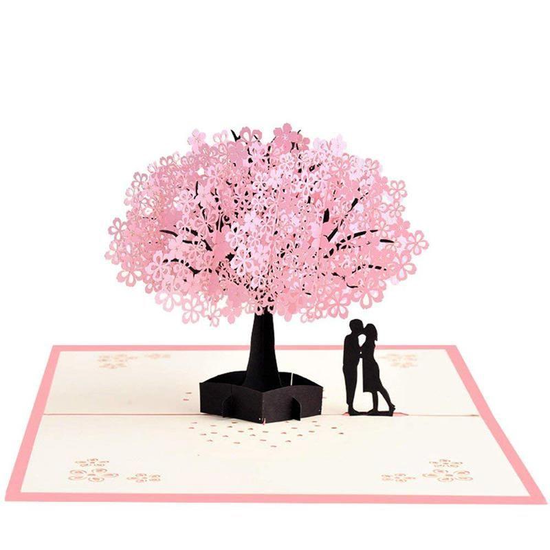 Handmade Pop Up Romantic Birthday Anniversary Dating Card For Husband Wife Boyfriend Girlfriend