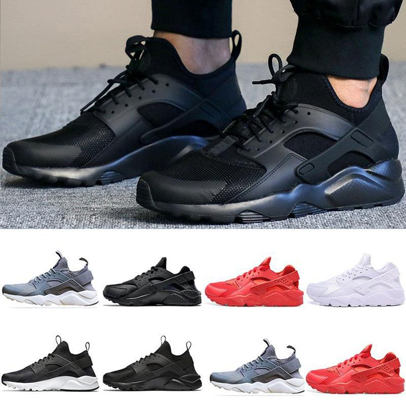 2019 Huarache 1.0 4.0 Running shoes for Men Trainer Triple Black Red grey women Sport Outdoor Sneakers 36-45