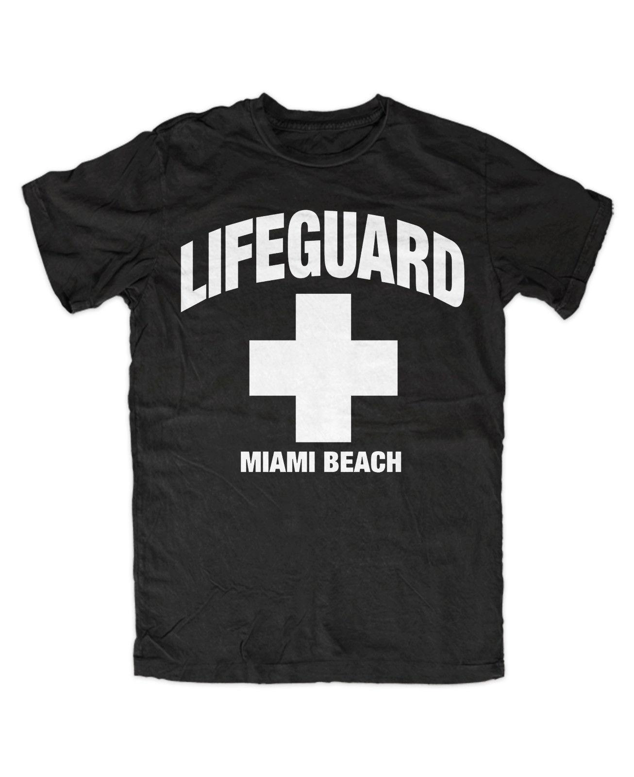 92d2f4a8e3f Lifeguard Miami Beach T Shirt David Hasselhoff