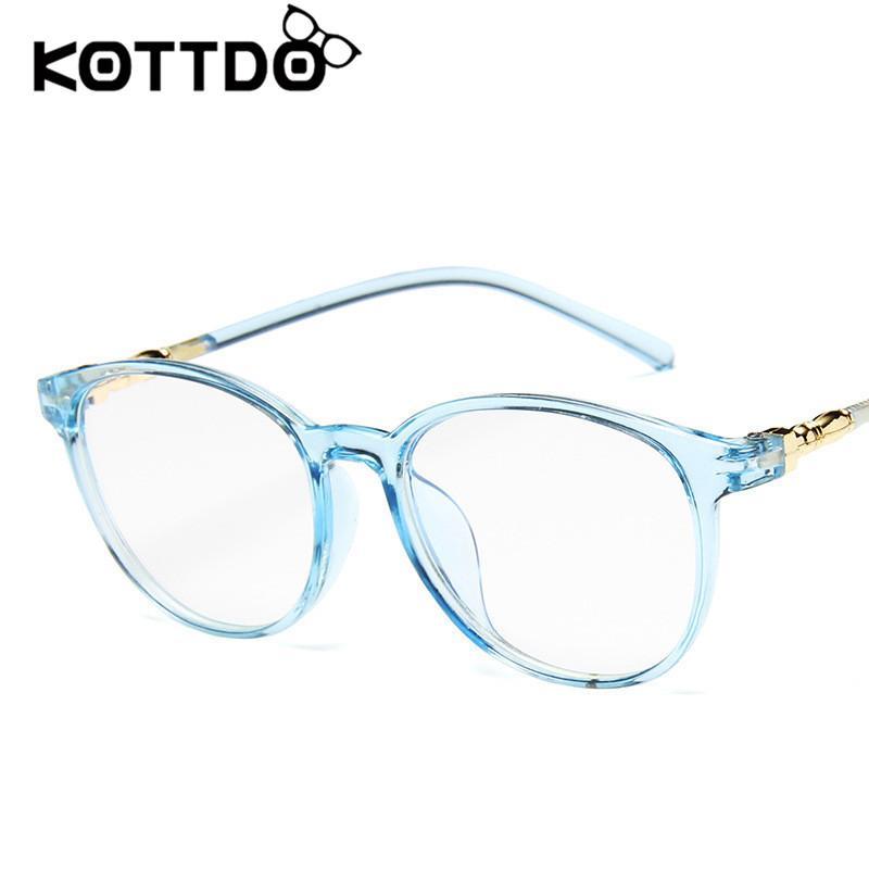 c508b3a01706 KOTTDO 2019 Fashion Retro Glasses Frame Wild Glasses Frame Female ...