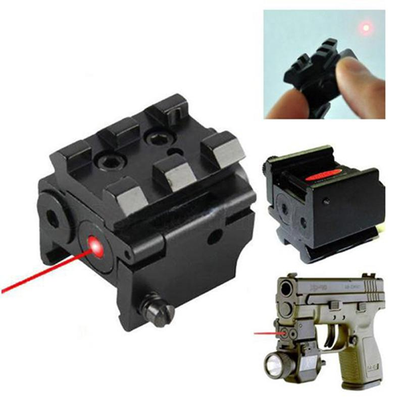 Outdoor Tactical Compact Adjustable Red Laser Sight 1mW Mini Red Dot Sight With 20mm Rail Mount.