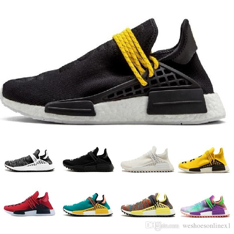 2500f2966a779 2019 2019 Human Race Pharrell Williams Hu Trail Cream Core Black Nerd  Equality Holi Nobel Ink Trainers Mens Women Sports Sneakers Running Shoes  From ...