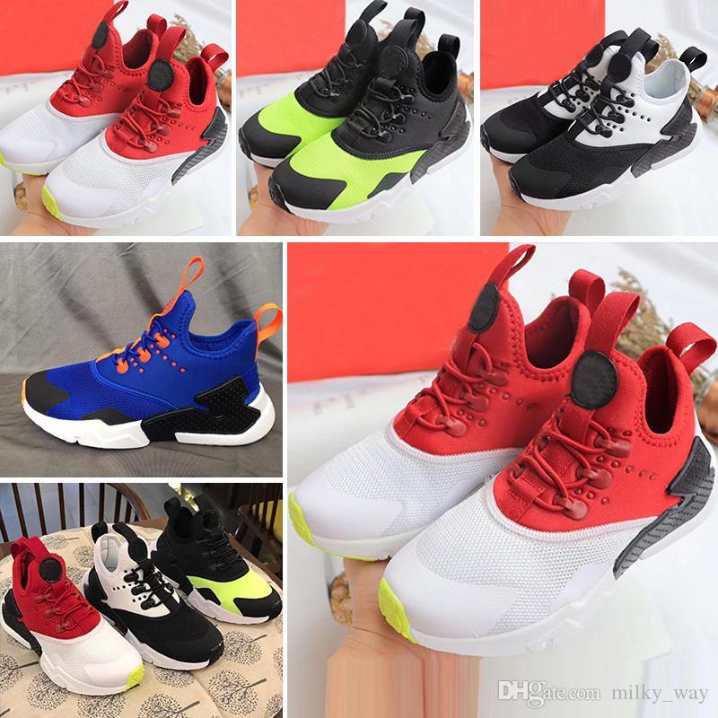 big sale 8cbb0 ce649 Acheter Nike Air Huarache 2018 Air Huarache Drift Chaussures De Course Pour  Bébé, Enfants, Blanc De  56.56 Du Milky way   DHgate.Com