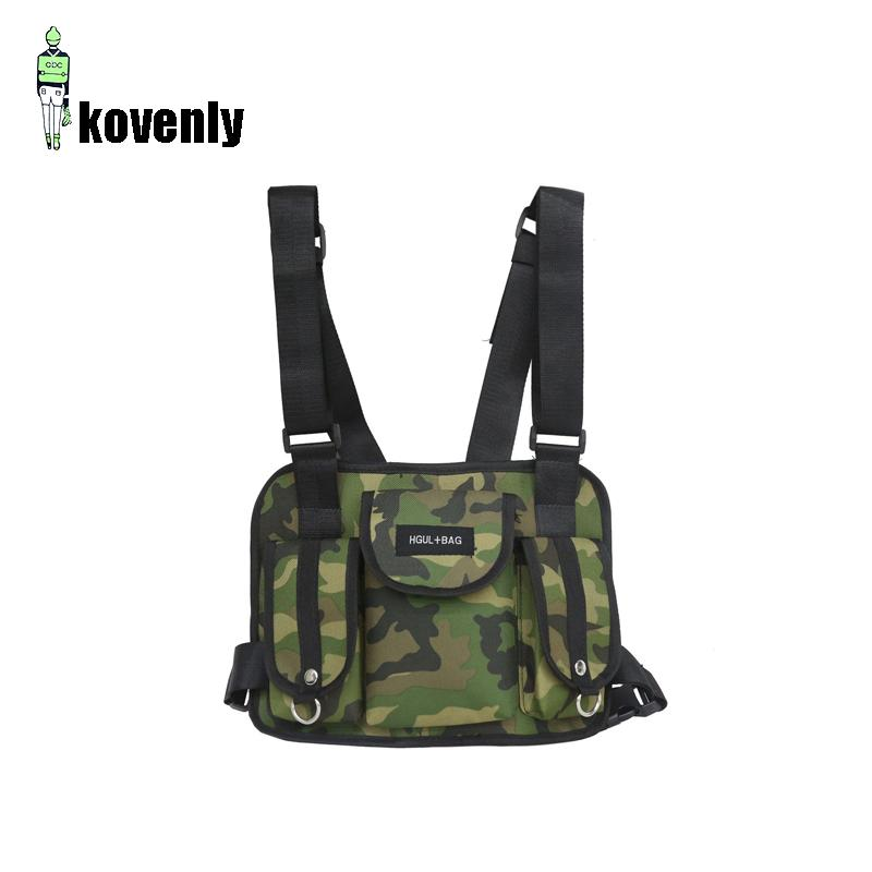 2fe8be614 Men Chest Rig Hip Hop Streetwear Unisex Cool Functional Tactical Chest Bag  Cross Waist Bag Nylon Punck Style Backpack D1