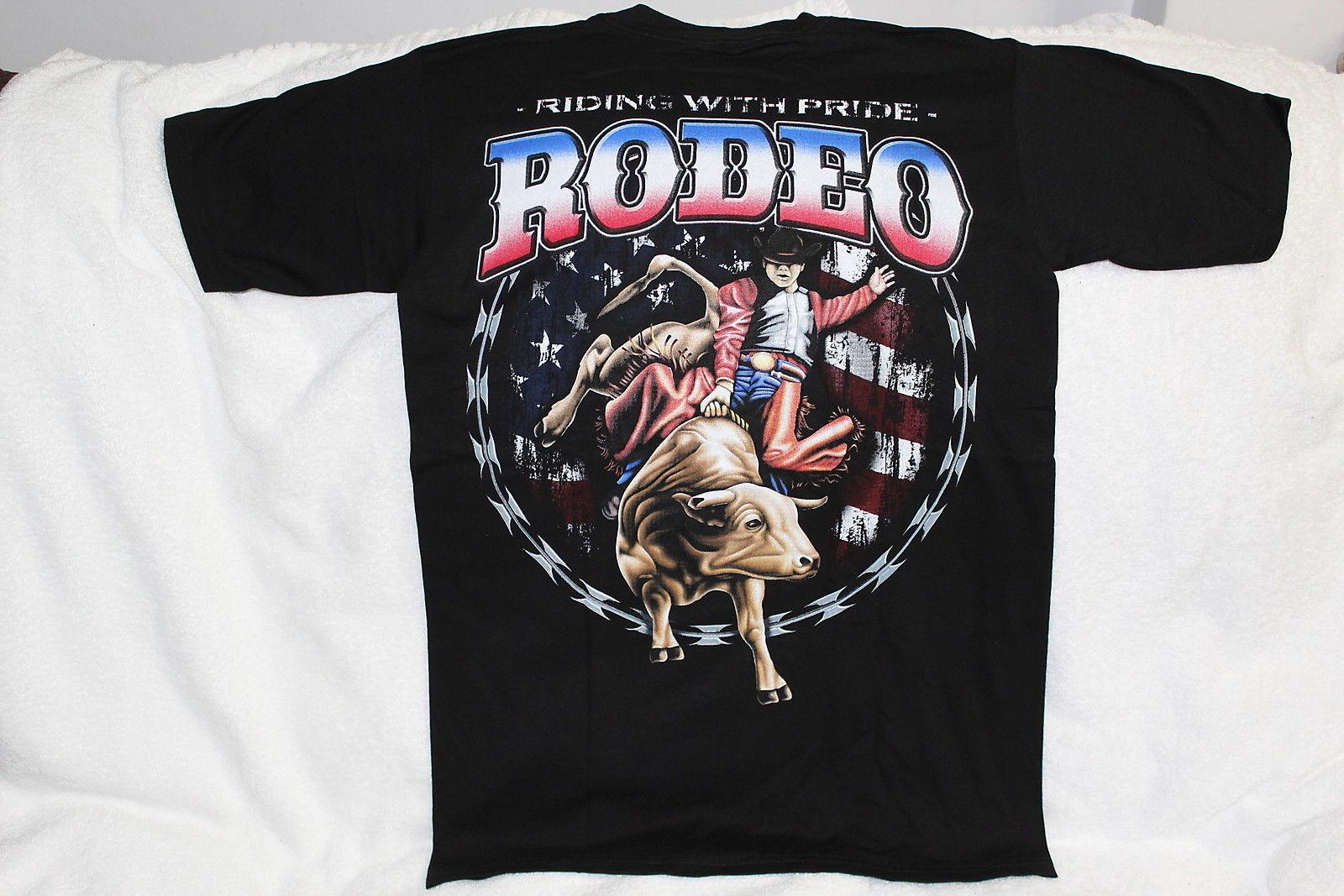 Bull Riding Cowboy Rodeo Riding With Pride Western T Shirt