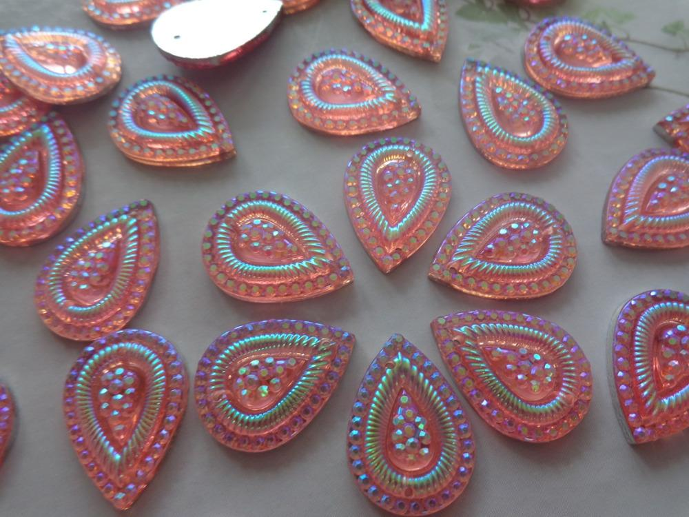 2019 13 18mm Sew On Rhinestones Pink AB Colour Stones Water Drop Shape  Flatback Accessories Strass Gem Stones Beads From Fashion29 e6e77badc372