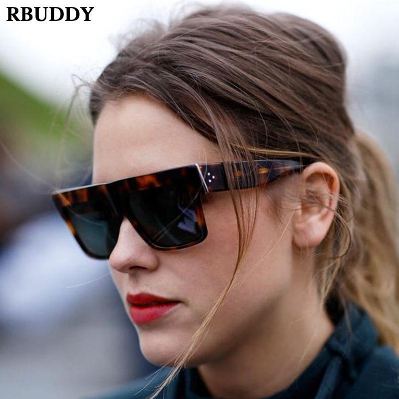Compre Retro 2019 Big Frame Óculos De Sol De Alta Qualidade Mulher Clássica  Estampa De Leopardo Luneta De Soleil Designer De Luxo Óculos De Sol UV400  De ... b785b912f1