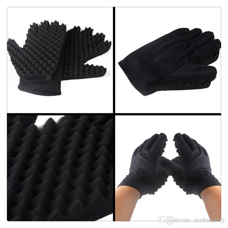 Magic Hair Brush Sponge Curling Mold Coil Twist Curly Hair Gloves Wave Barber Hair Brush Sponge Gloves Styling Tools