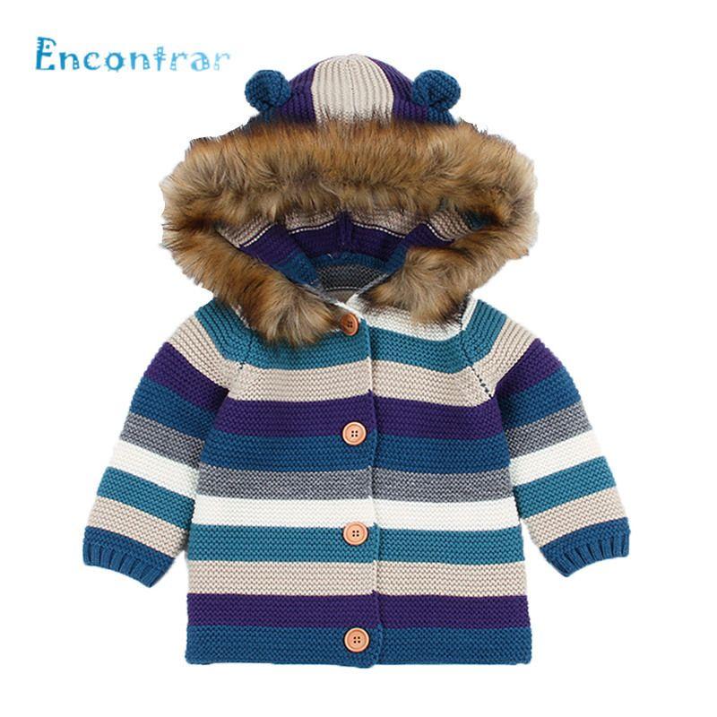 9a987cd5e2c4 Encontrar Winter Warm Baby Sweater Fur Hooded Detachable Girls Boys ...