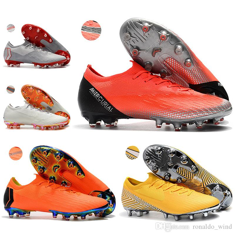 1ddf93ccf New Men Low Ankle Football Boots CR7 Mercurial Vapors XII Elite AG ...
