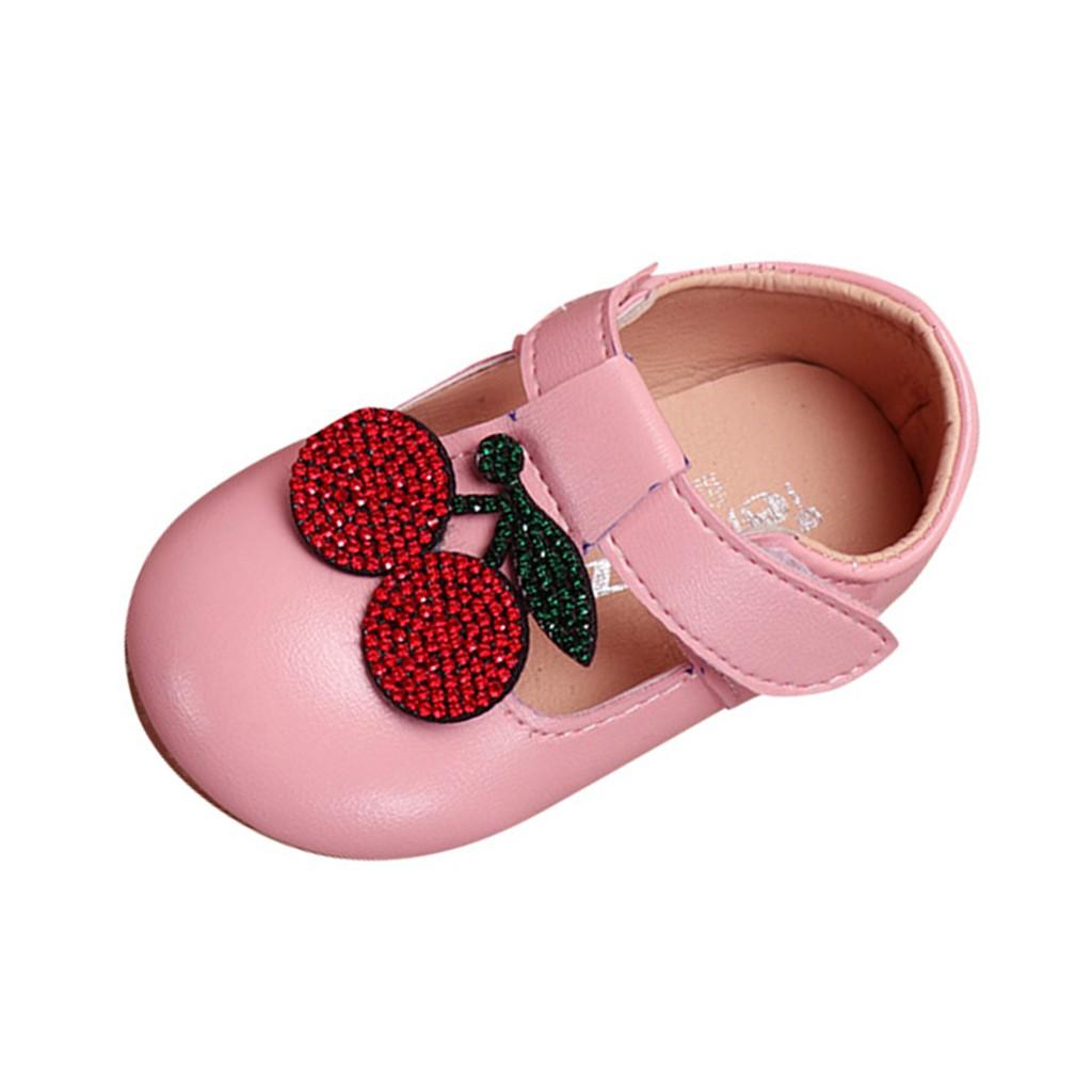 ARLONEET baby girl single flat princess shoes Toddler Infant Kids Girls Crystal Elegant Flower soft leather Princess Shoes W0116