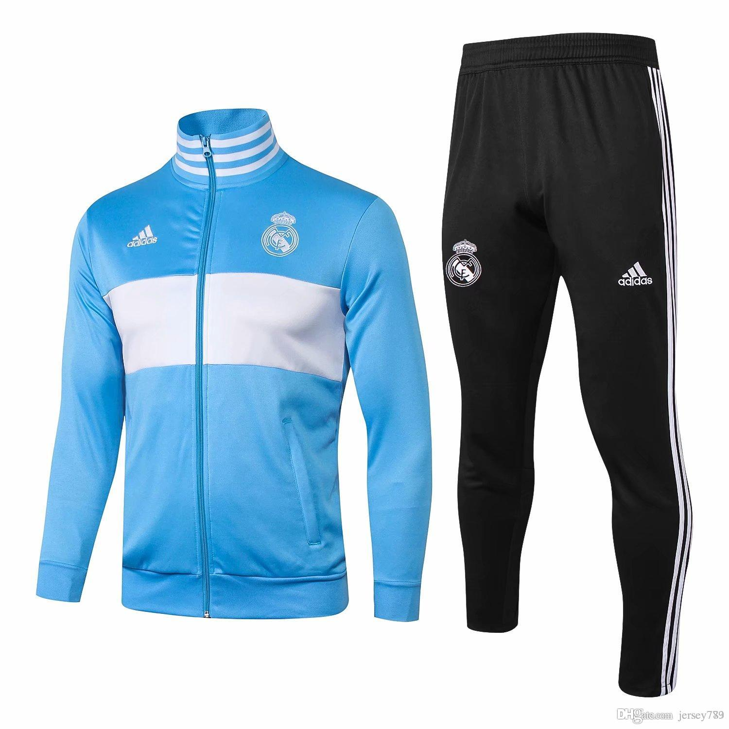 c72ffa4377e 2019 AA 2018 19 Real Madrid Tracksuit Men S Soccer Chandal Football  Tracksuit 2018 19 Adult Training Suit Skinny Pants Sportswear From  Jersey773