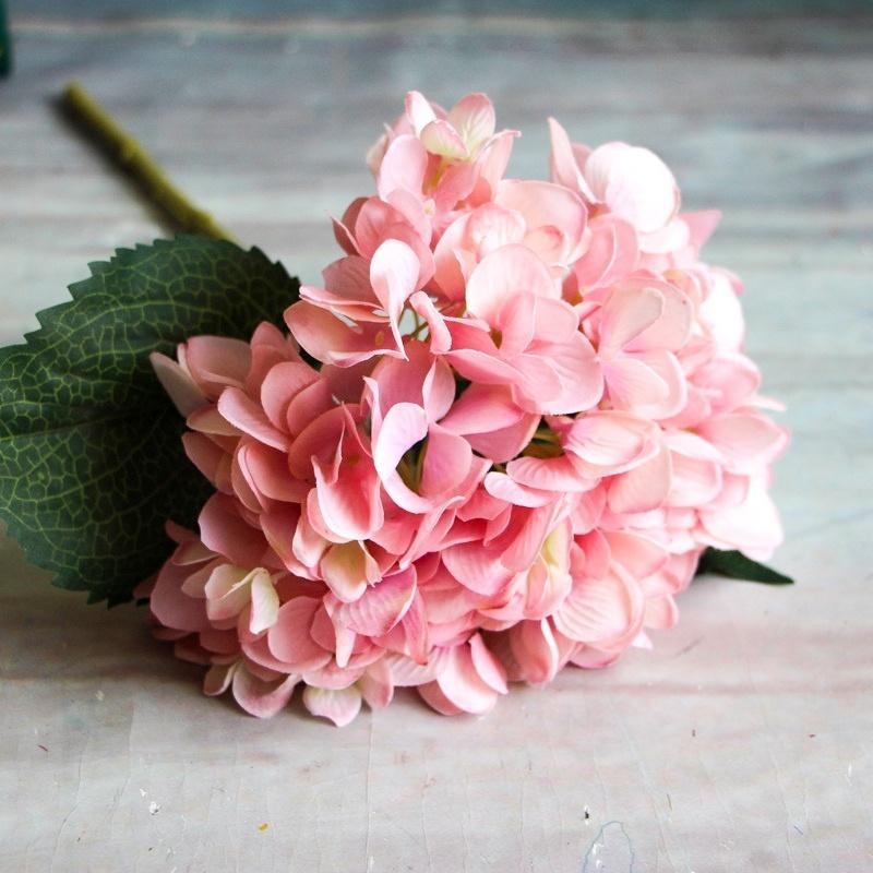 Grosshandel 1 Zweig Kunstliche Blumen Hochzeit Party Decor Hortensien