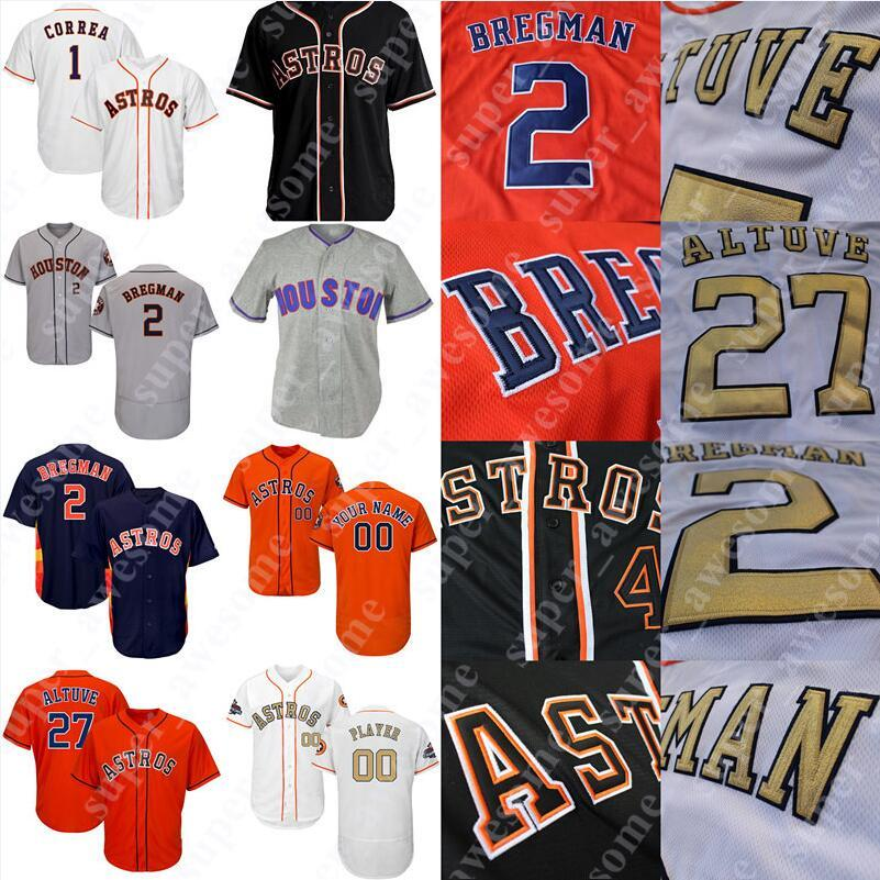 cheap for discount 6b7e5 dfbba Houston Alex Bregman Astros Jersey George Springer Michael Brantley Justin  Verlander Jose Altuve Gerrit Cole Josh Reddick Corbin Martin Alou