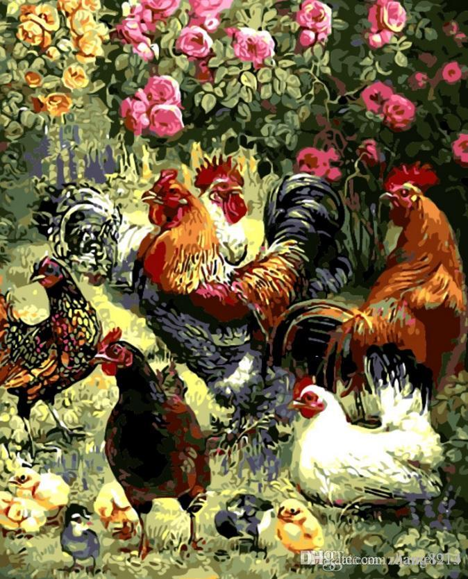 Acheter 16x20 Pouces Bricolage Peinture Sur Toile Par Nombre Kits