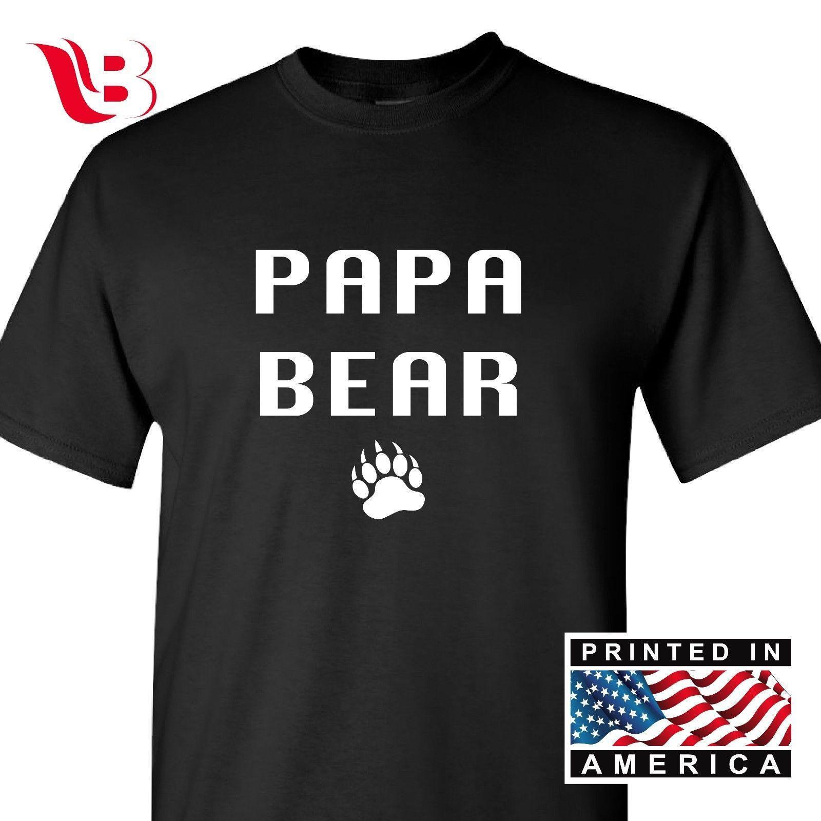 ee0e2d60cc Papa Bear Funny T Shirt Cute Father'S Day Gift Shirt New Dad Tee Gift Sm  3Xlg Latest T Shirt Designs Coolest Shirts From Integrity067, $11.63|  DHgate.Com