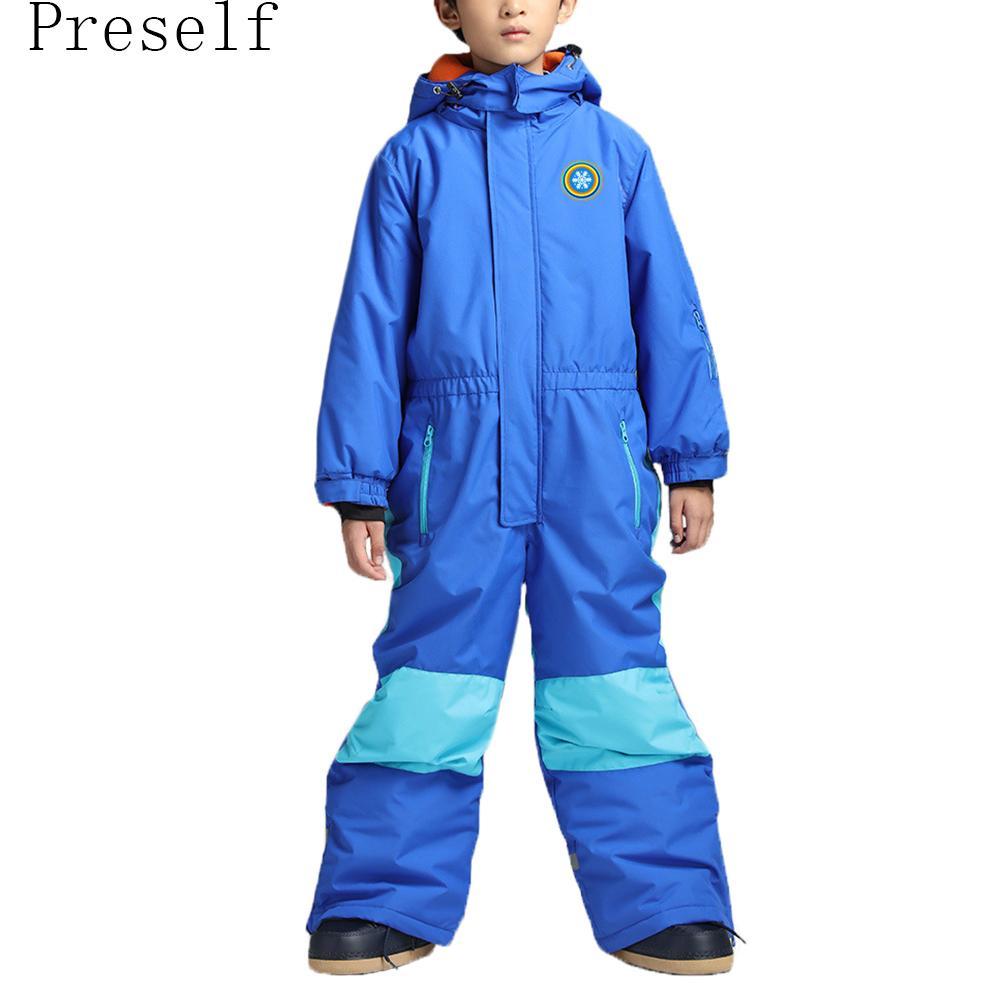 9e0fe99b57c0 Kids  Snowboard Snowmobile One-Piece Ski Suit Snowsuit Boys Girls ...
