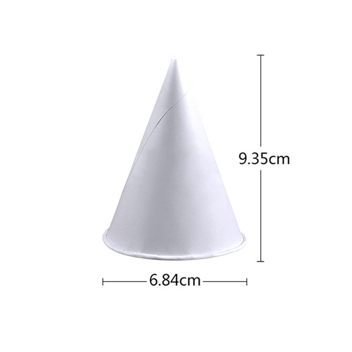 1000pcs 3,7 oz jetables cônes d'eau tasses d'entonnoir en papier tasses de cônes de neige - blanc