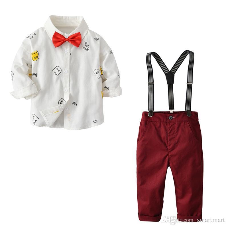 Acquista ragazzi bambino western party bow top colore rosso