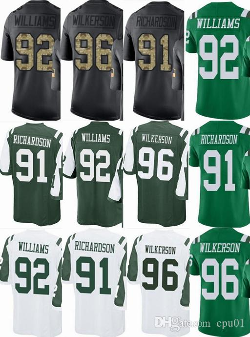 22cab4797 New York Jets Custom Men youth women  91 Sheldon Richardson 92 ...