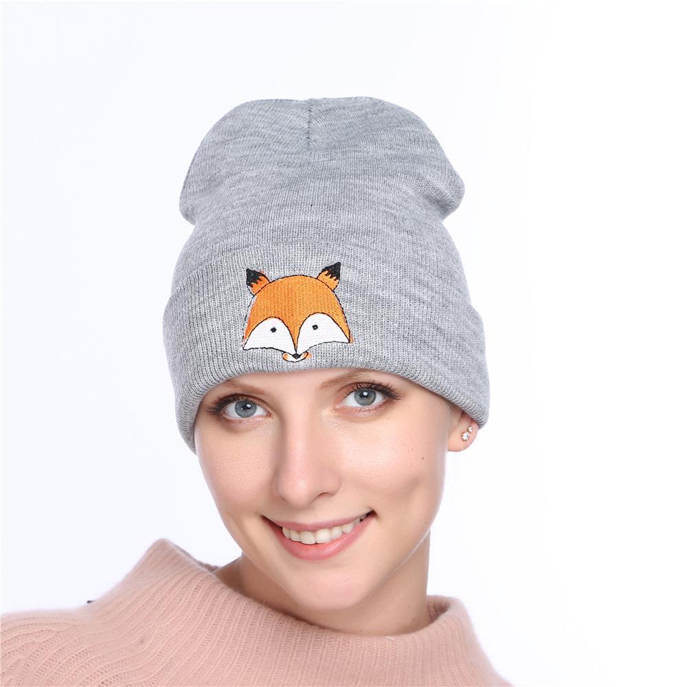 Compre Patrón Fox De Dibujos Animados Mujeres Invierno Sombrero En ...