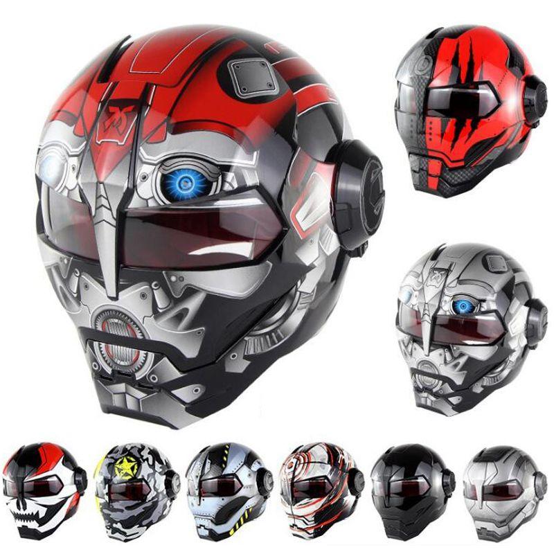 898b015251463 Compre War Machine Grey Para Mujer Para Mujer Casco De Motocicleta Iron Man Casco  Moto Capacetes Casco Retro Casque Moto Ride Casque A  232.18 Del Miniputao  ...