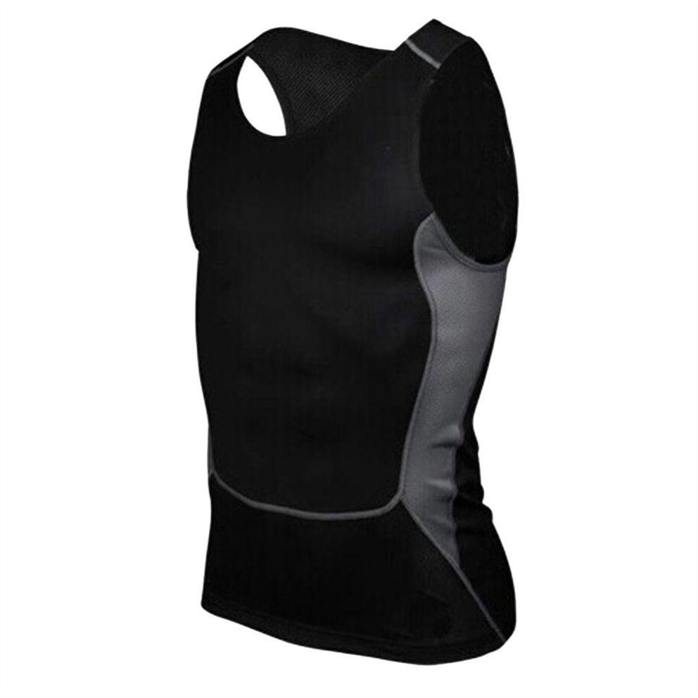 Men/'s Sports Compression Vest Tank Top Fitness Workout Base Layer T-Shirt Blouse