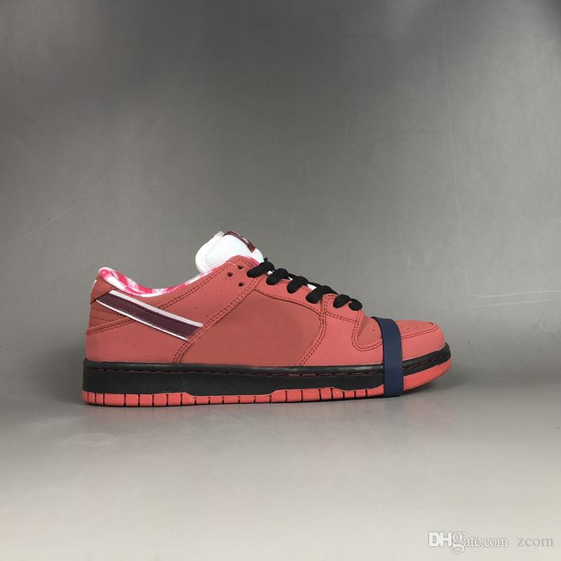 premium selection 6ce8b f08e7 Compre Air Nike Dunk SB Bajo Conceptos X Rojo Azul Morado Langosta Running  Zapatos Zoom Dunks Mujeres Mens Trainers Diseñador Autentico Zapatillas Con  Caja ...