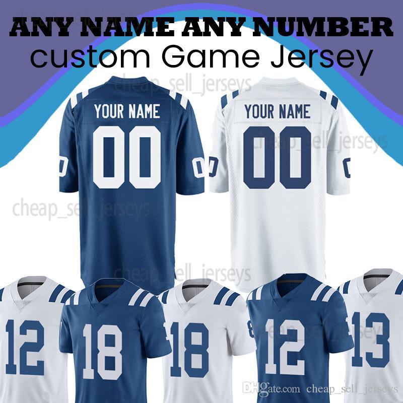 584f5ea6855 2019 Customized 53 Darius Leonard Colts New Jerseys 12 Andrew Luck 13 Ty  Hilton 18 Peyton Manning Jersey 2019 Men From Cheap sell jerseys