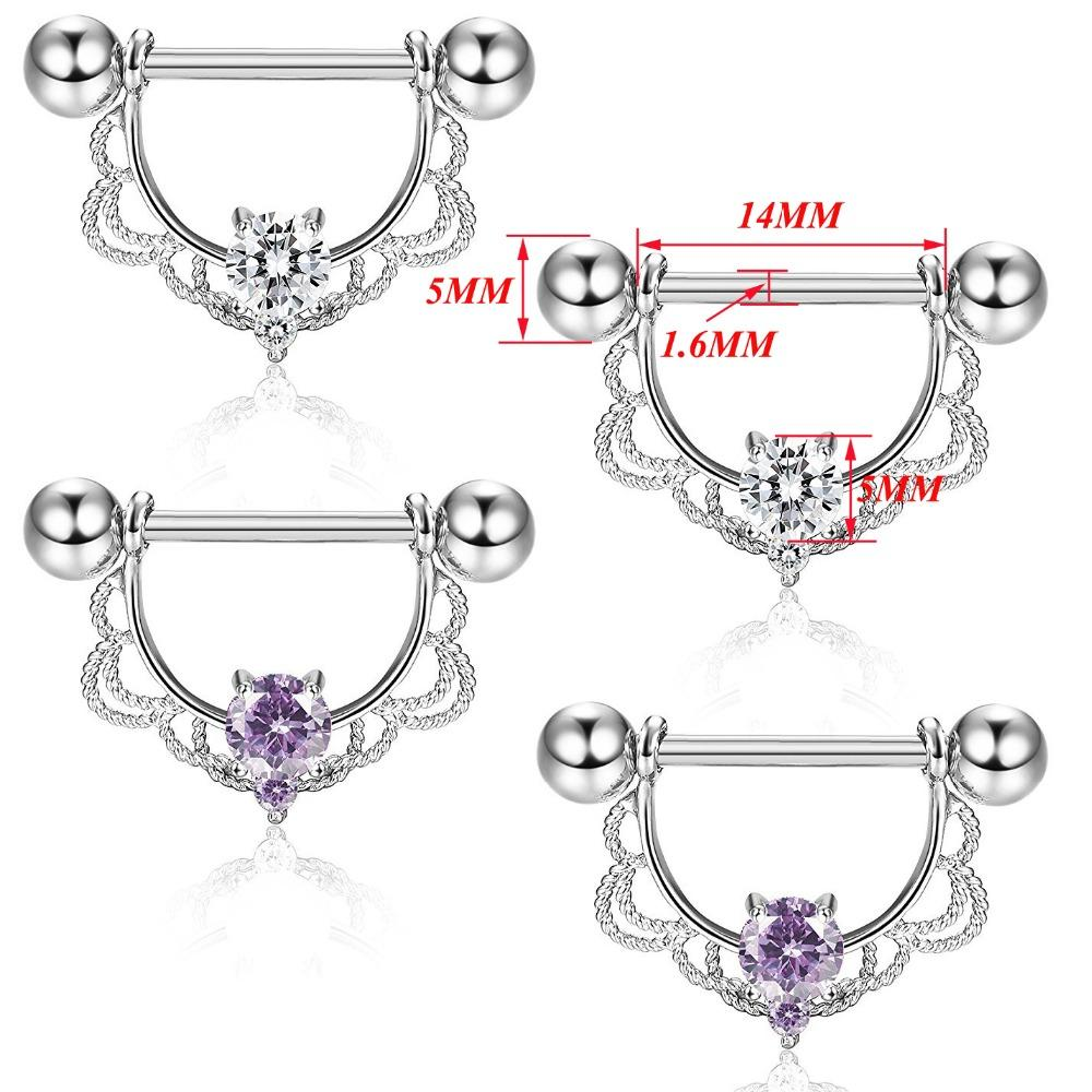 WKOUD 316L Surgical Steel Zircon Sexy Nipple Ring Body Jewelry Nipple  Barbell Mix Body Piercing Jewelry Bar Women Online with  28.17 Pair on  Meinuo002 s ... f826279189d0