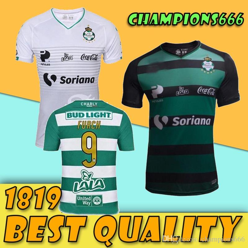 df8795341 2019 2018 2019 Mexico Santos Laguna Soccer Jersey 18 19 Home Away 3rd Santos  Camisetas Mexico Liga Jerseys Furch Djaniny Sánchez Football Shirts From ...