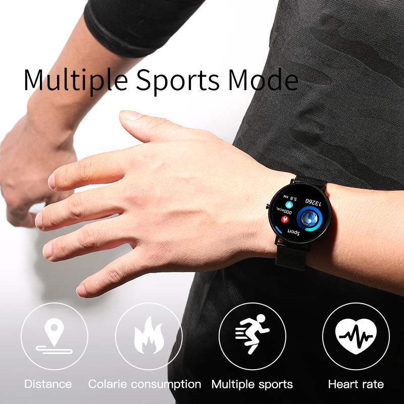 L6 Full Screen Touch Thinner Smart Watch IP68 Impermeable Modo de deportes múltiples DIY Watch Face 250Mah Fitness Bracelet