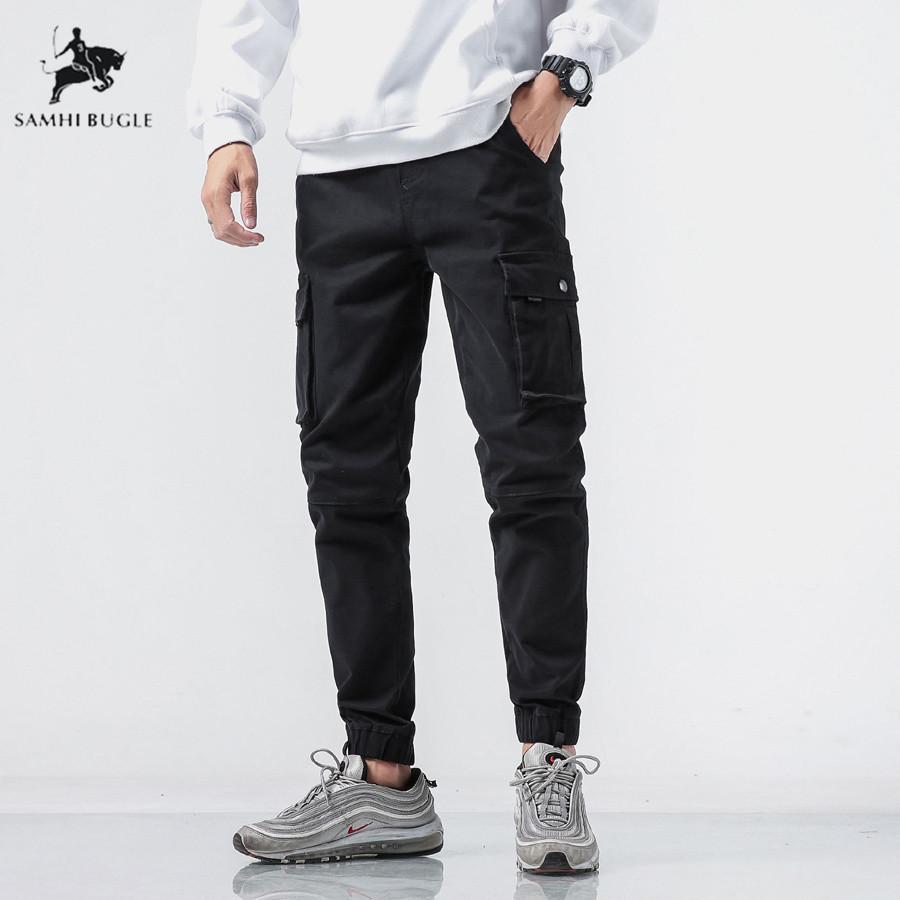 98c108c2f704f Compre Hombres Multibolsillo Diseño De Cintura Elástica Pantalones Harem  Street Punk Hip Hop Pantalones Casuales Joggers Pantalones De Baile Para  Hombre A ...