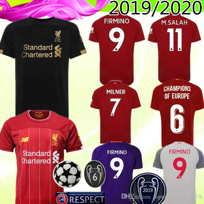 release date: 2e739 fcadc FIRMINO Soccer Jerseys Roberto Firmino Home European new Sadio Mané Mohamed  Salah James Milner Fabinho Champions Of Europe Football jerseys