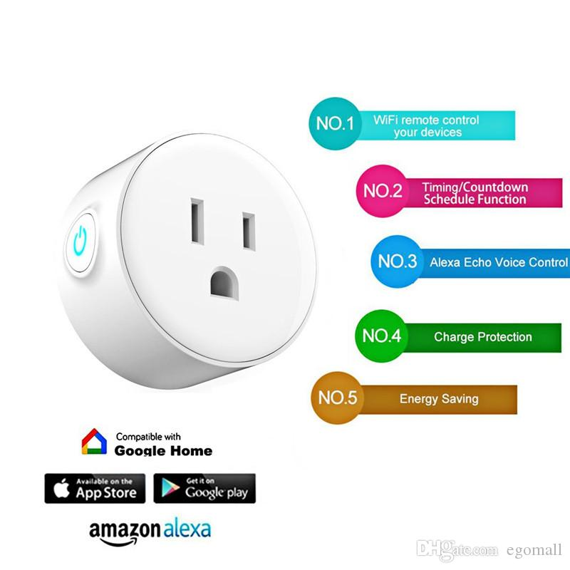 WIFI Smart Plug US-Stecker Smart Timing Socket Wireless Outlet Control-Funktionsstecker für Smart Home Automation