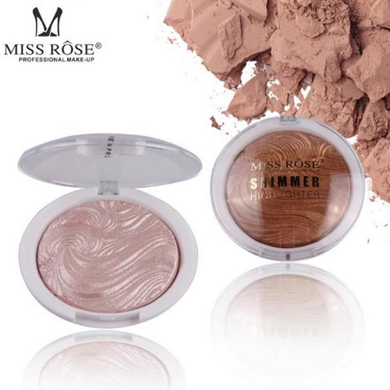 MISS ROSE Brand Glow  Shimmer  Highlighter Base Illuminator Highlight Face Contour Golden Bronzer Beauty 6 Colors