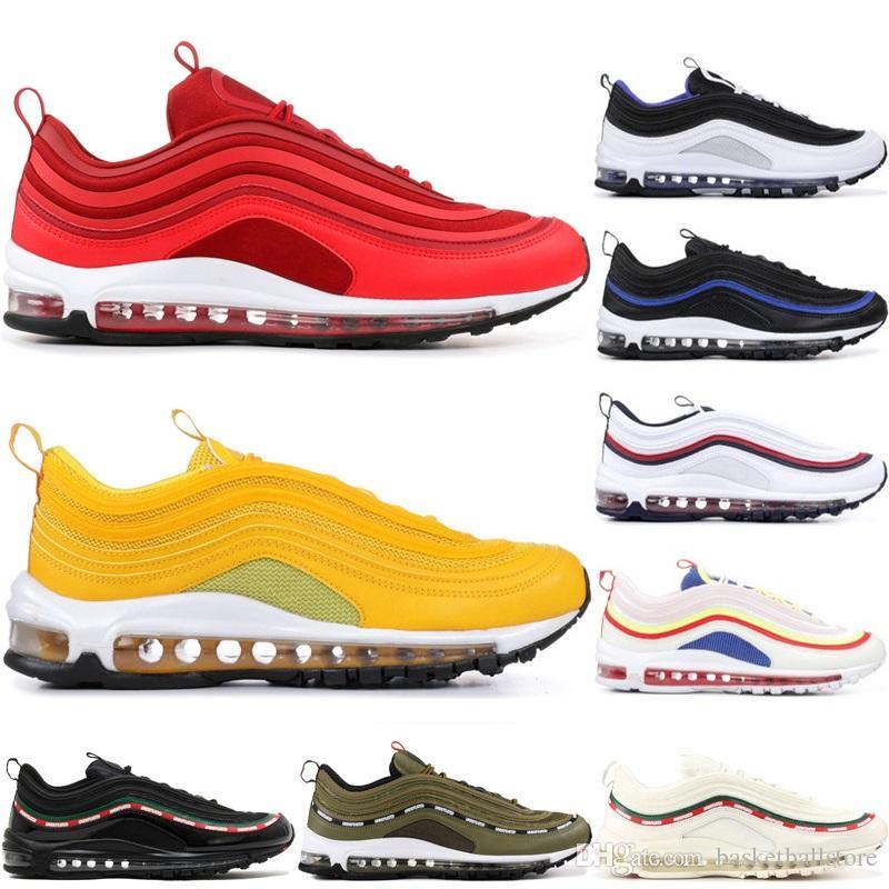 online store 89206 79fa7 Nike Air Max 97 La Mejor Calidad De Los Zapatos Para Correr Gym Red Japan  OG Gold Silver Bullet Triple Blanco Negro Casual Para Hombre Para Mujer  Entrenador ...