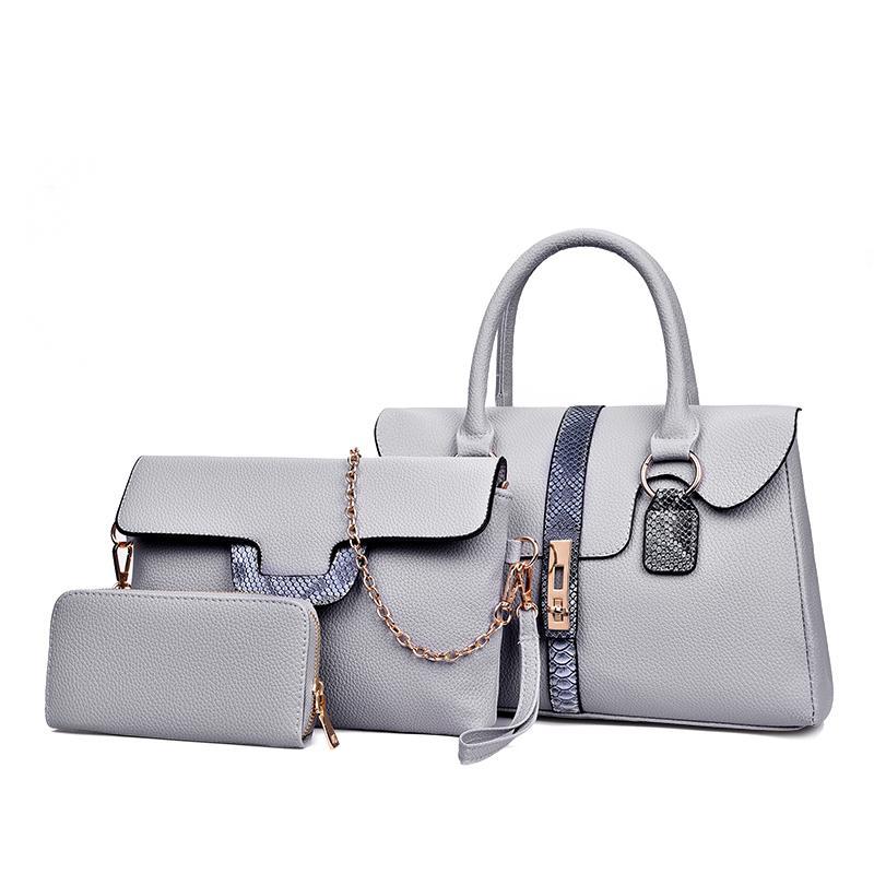 bded4e396049 Women Bag Set Handbags Female Tote Bags Leather Shoulder Messenger Bag  Crossbody Bags For Women Messenger Clutch Purse Laptop Bags Leather  Backpack From ...