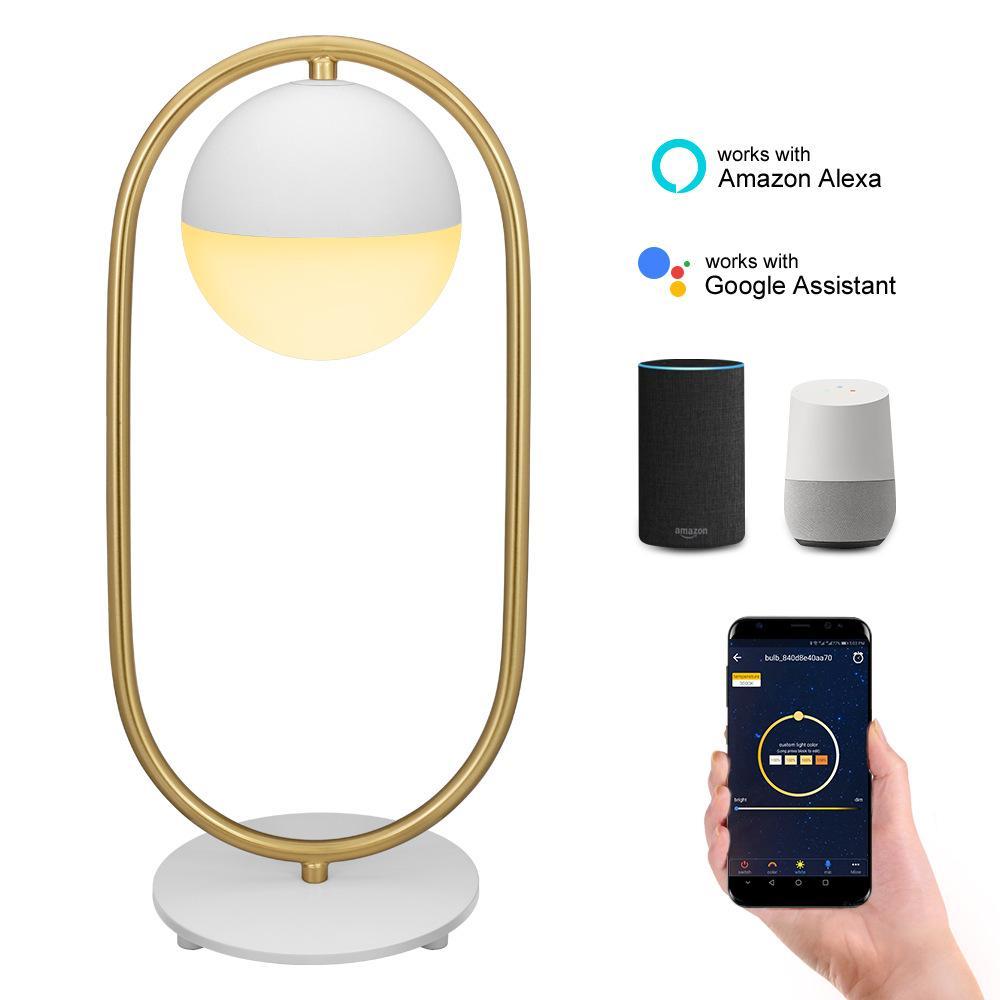 À Lampe Wifi Ambient App Alexa Google Table Chevet Intelligente Avec Del 7w Lumineuse Multicolore Vocale Hzfcew De Contrôle Home Commande OXNn0P8wk