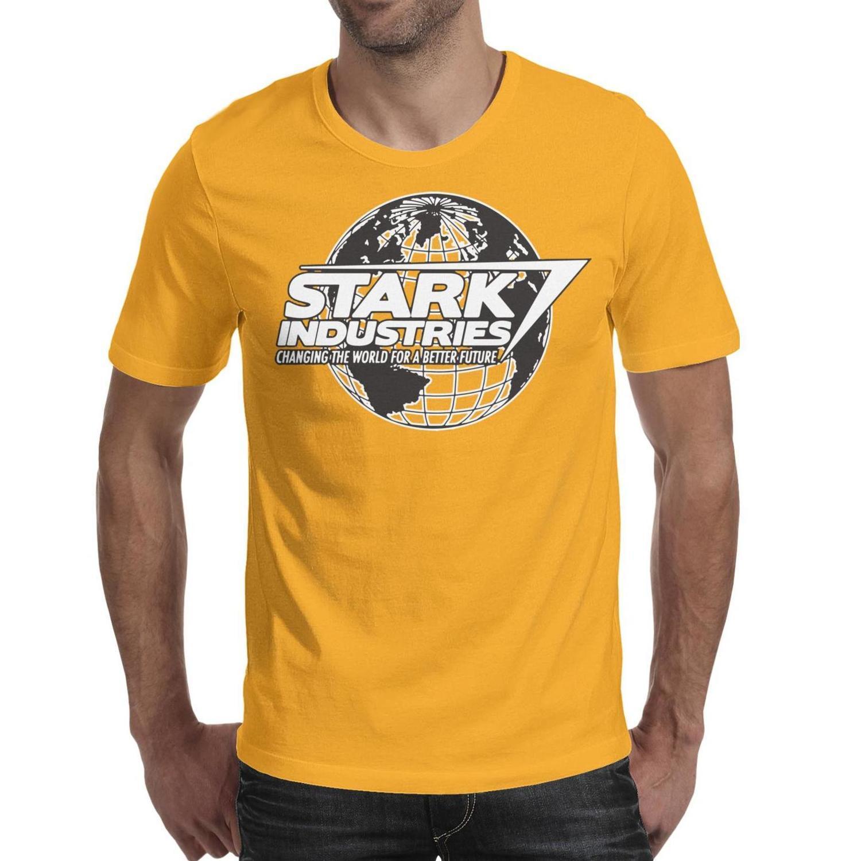 9fe0657bb3c8 Stark Industries Logo Mens T Shirt Yellow Shirts Custom T Shirts ...