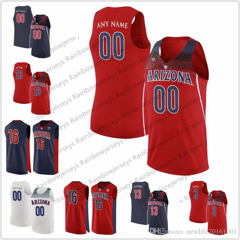 sports shoes 96413 8148e Custom Arizona Wildcats College Basketball Jersey Any Name Number 4 Chase  Jeter 5 Brandon Randolph 11 Ira Lee 12 Justin Coleman S-3XL