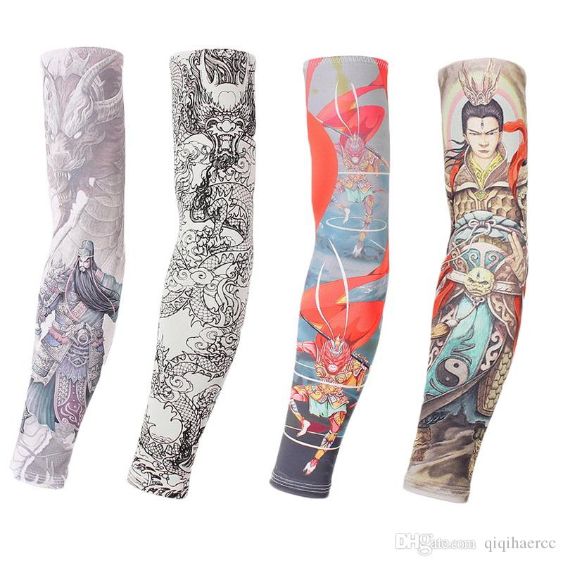 2Pcs Sun UV Protective Arm Sleeves For Men Women Cycling Fishing Tattoo sleeves Cooling Sport cuff Summer Arm Cover Warmers