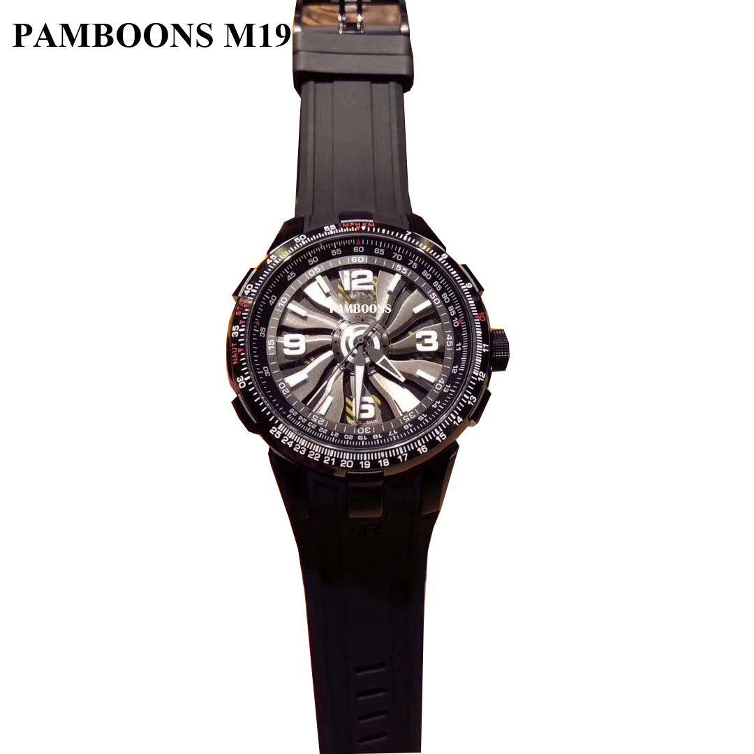 d30c90ee8e8 Compre Nova Moda De Luxo Da Marca Relógio Suíço De Couro Tourbillon Relógio  Automático Dos Homens Relógio De Pulso Dos Homens De Aço Mecânico Relógios  ...