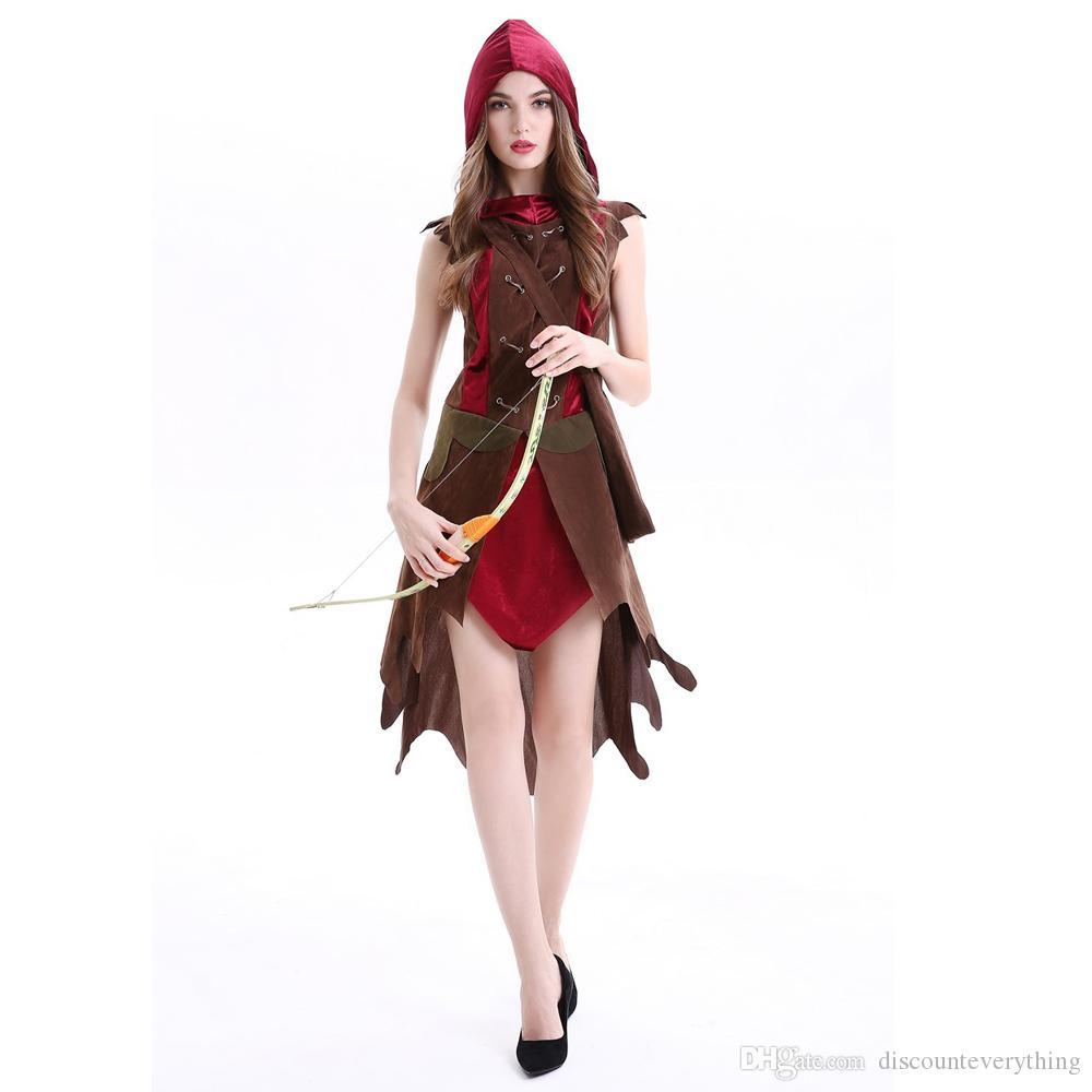 fbed7c24ccadb Acquista Cappuccetto Rosso Costume Piccolo RedCap Huntress Cosplay Abito Da  Sera Femminile Guerriero Eroina Abbigliamento Halloween Le Donne A  39.59  Dal ...