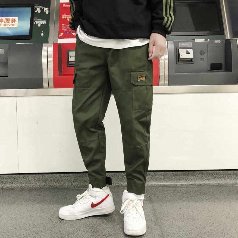 96c1cc28d5 2019 nuovi piedi moda giapponese pantaloni per il tempo libero pantaloni  hip-hop cargo Streetwear uomini pantaloni Harem multi tasca pantaloni camouf