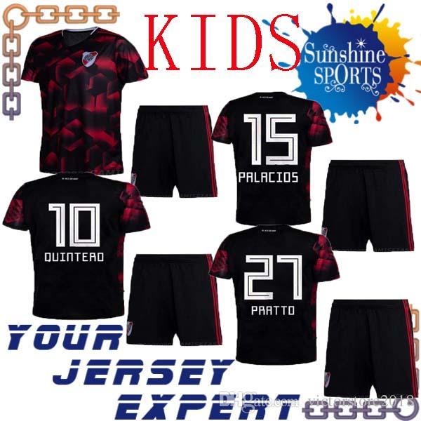 ba6acb523dbc 2019 19 20 River Plate Kids Kit THIRD SHIRT CUSTOMIZE 2019 2020 Soccer  Jersey Boy Set PALACIOS BORRE PRATTO QUINTERO Football Shirts Child From ...