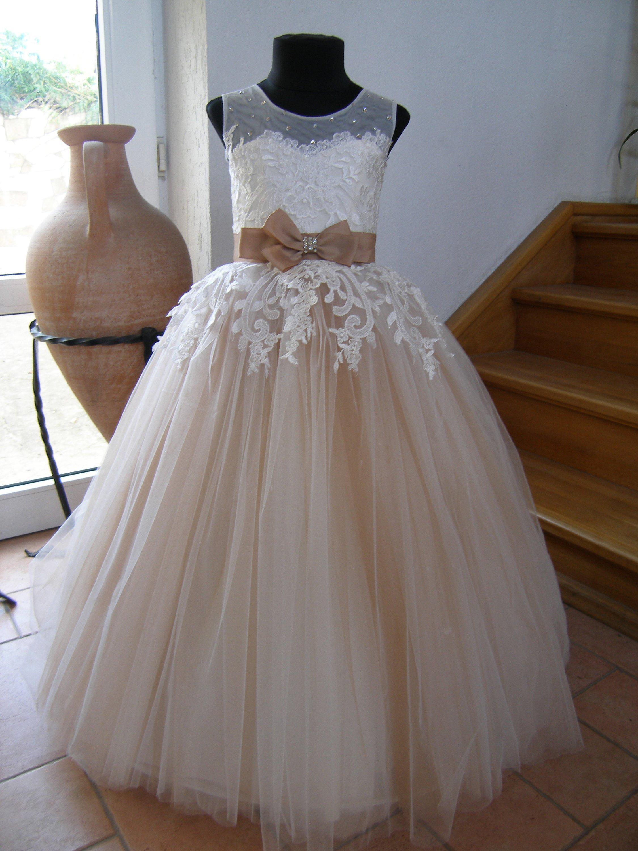 Robe princesse petite fille pour mariage