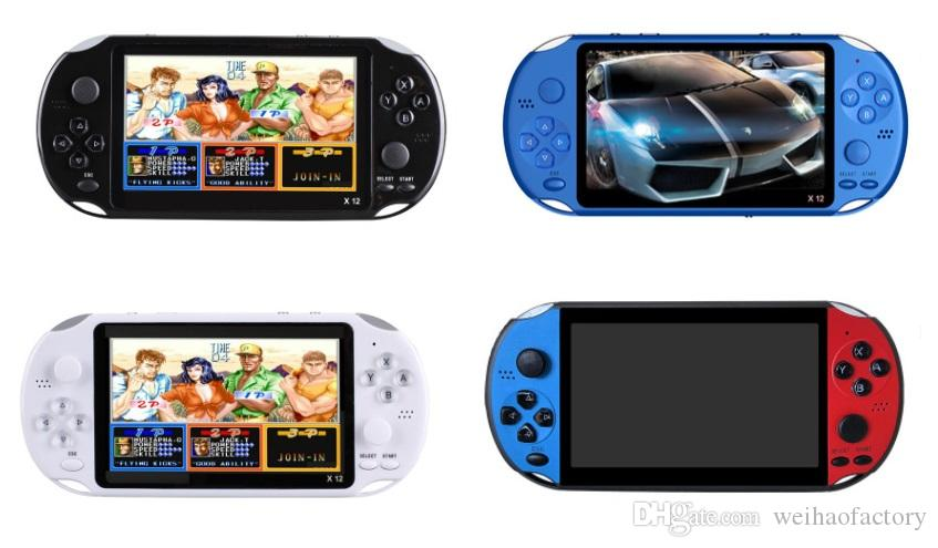 X12 Handheld Game Player 8GB памяти портативный видео Игровые приставки с 5.1