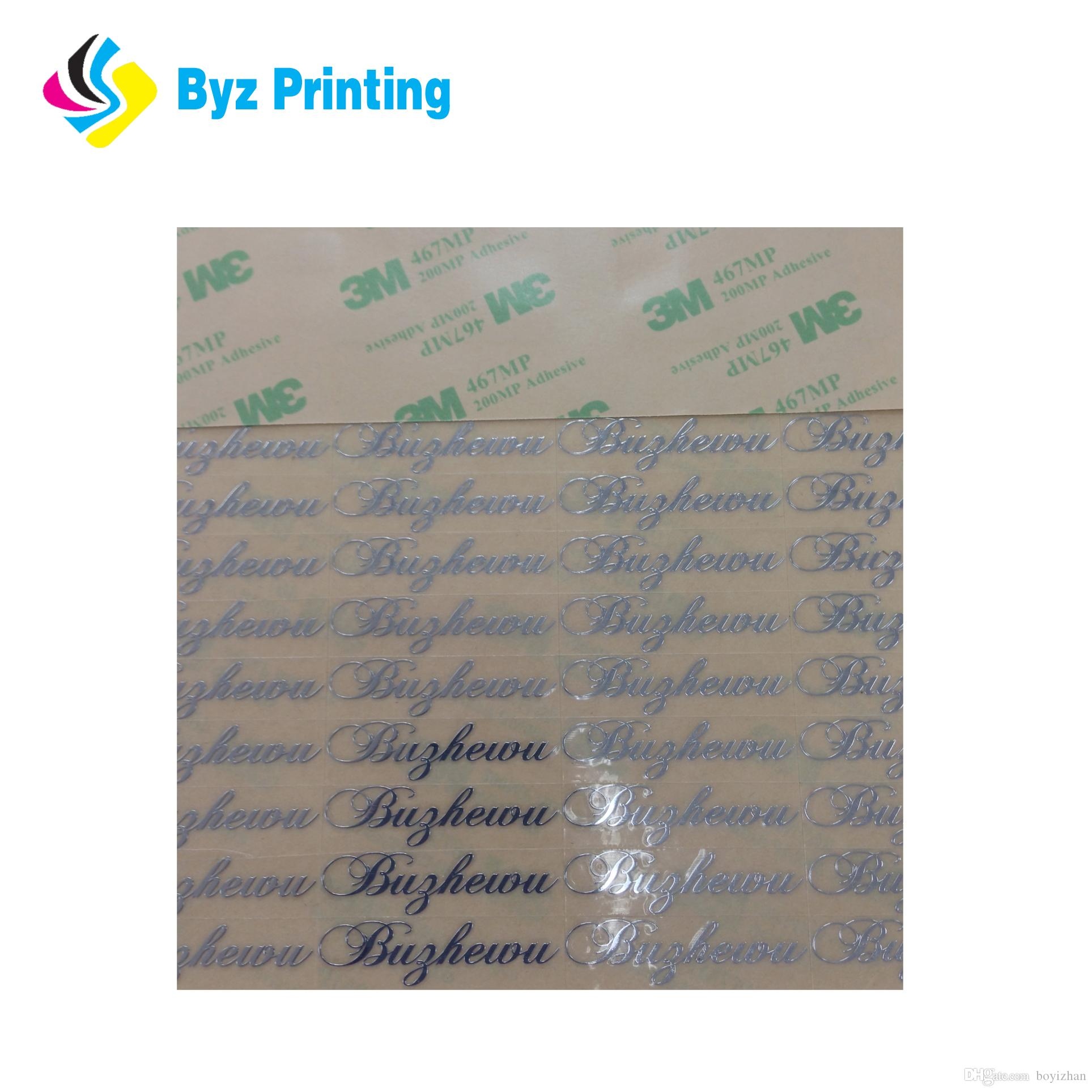 High quality custom weatherproof metallic name stickermetal logo label sticker printing