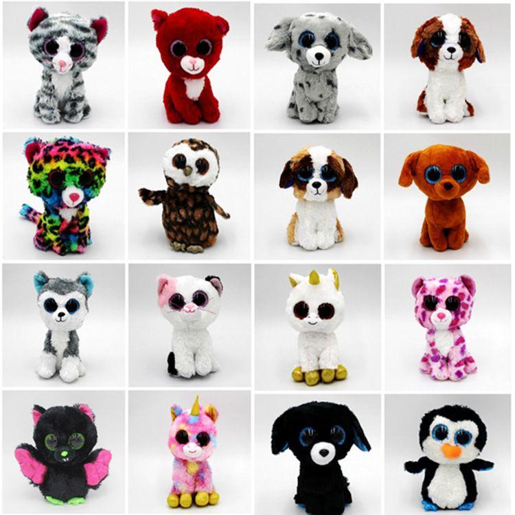 2019 20CM TY Beanie Boos 8 Unicorn Plush Toy Fox Owl Dinosaur Monkey Puppy Stuffed  Animal Big Eyes Doll Toys For Children Kawaii Kids Toys From Potala ab66f04ddf62